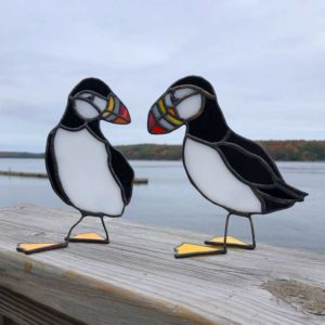 Stained Glass Puffin