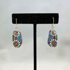 Fireworks Finale Beach Stone Earrings
