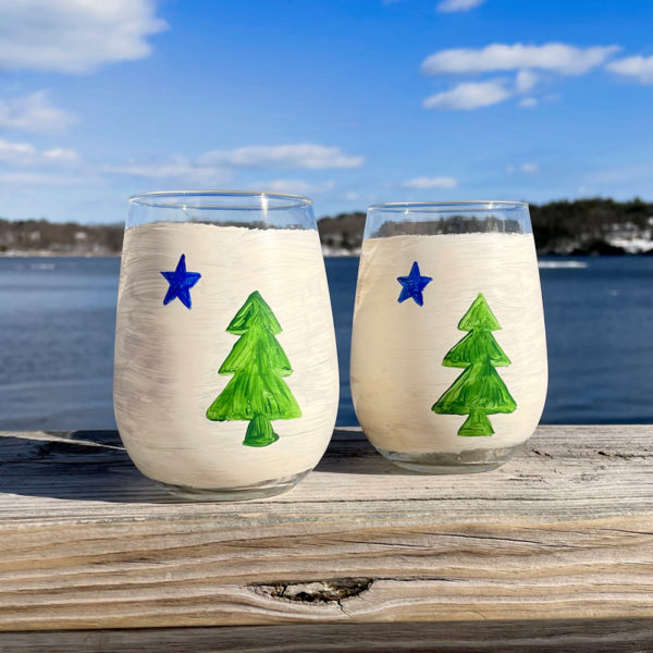 First Maine Flag Stemless Wine Glass