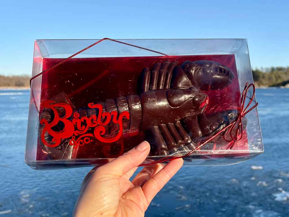 1 pound chocolate lobster