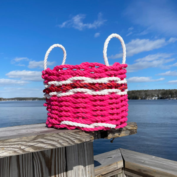 Poppin Pink Lobster Rope Doormat & Basket Set