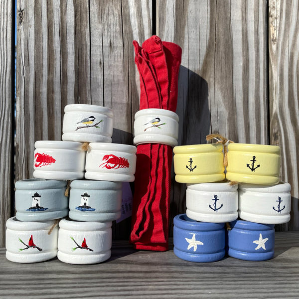 Hand Painted Napkin Rings