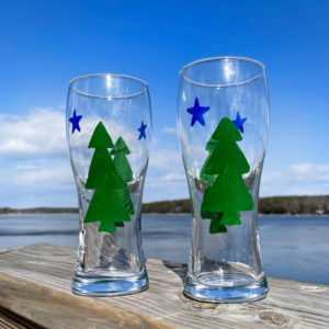 First Maine Flag Drinking Glass