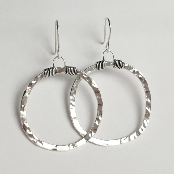 Large Signature Hoop Earrings
