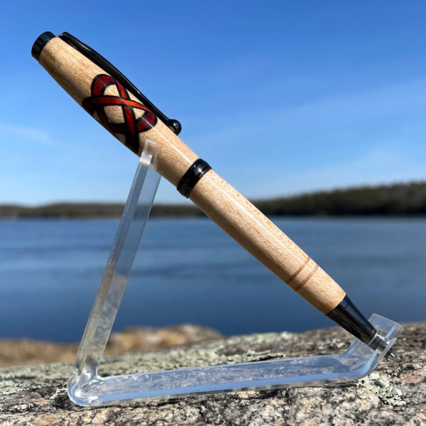 Maine Maple with Paduak Celtic Knot Pen and Gun Metal Hardware