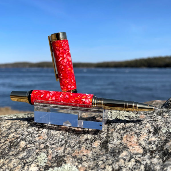 Crushed Lobster Shell Rollerball Pen