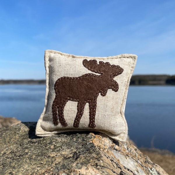 Moose Felted Balsam Pillow