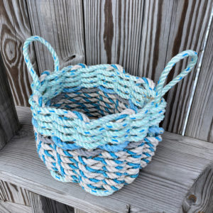 Sea Foam Lobster Rope Basket