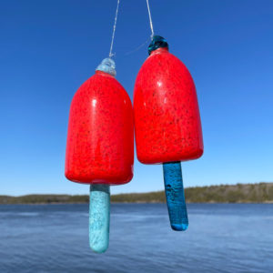 Red Blown Glass Lobster Buoy