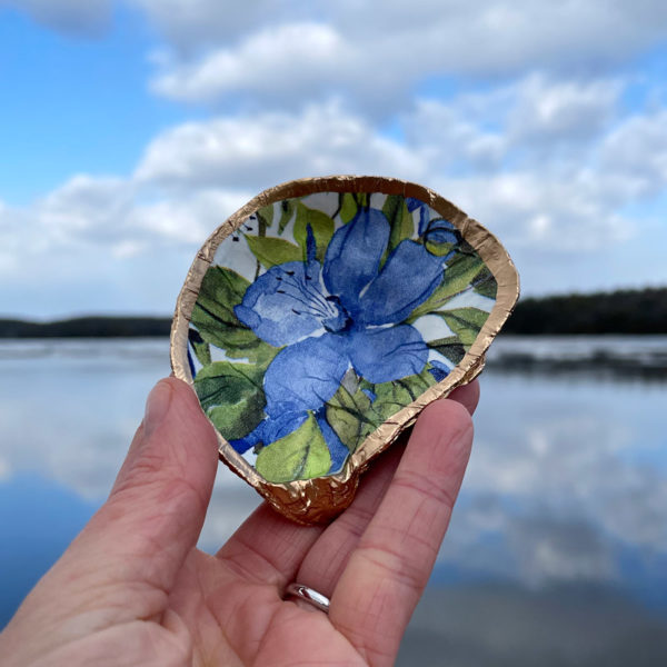 Borage Herb Oyster Ring Dish