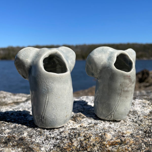 Elephant Bud Vase by Westport Island Pottery