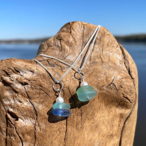 Sea Glass Stack Necklaces