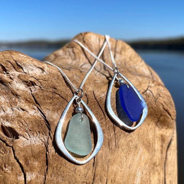 Sea Glass Tear Drop Necklace