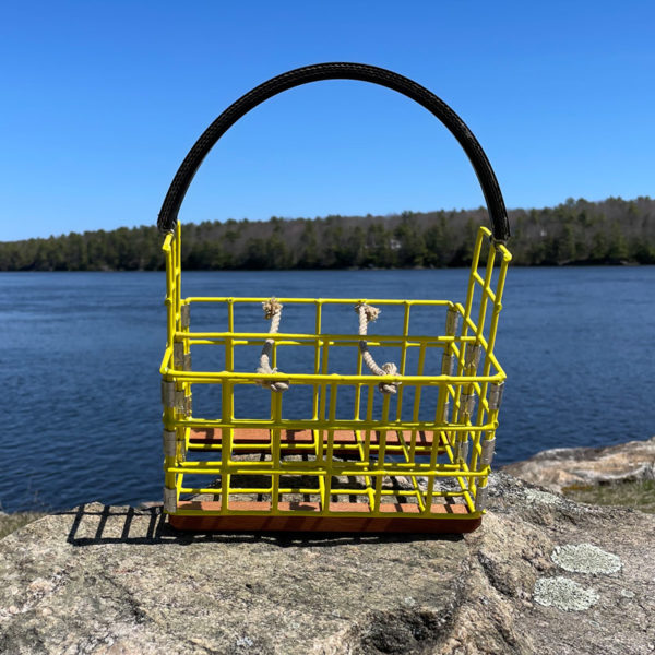 Yellow Lobster Trap Beer Caddy